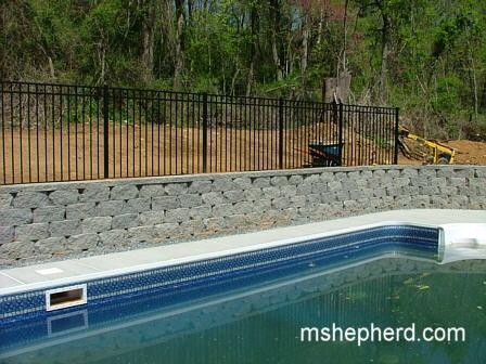 Fence around the pool